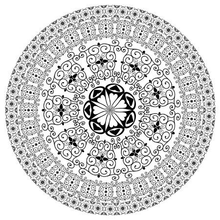 arabesque pattern round Vector