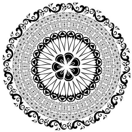 Baroque pattern round Vector