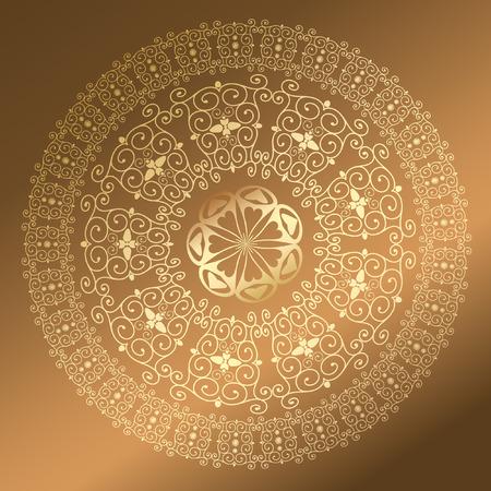 architectonic: Baroque pattern round gold