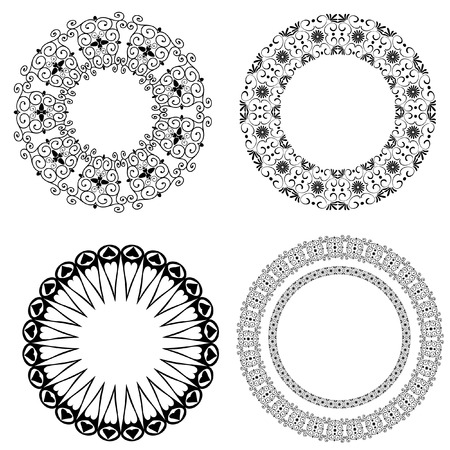 Baroque pattern of round Vector