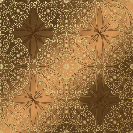 arabeskue seamless background gold Vector