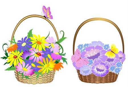 gift basket: Flower baskets
