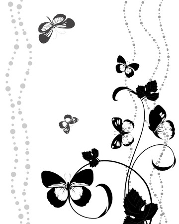 fluttering: pattern of butterflies fluttering Illustration