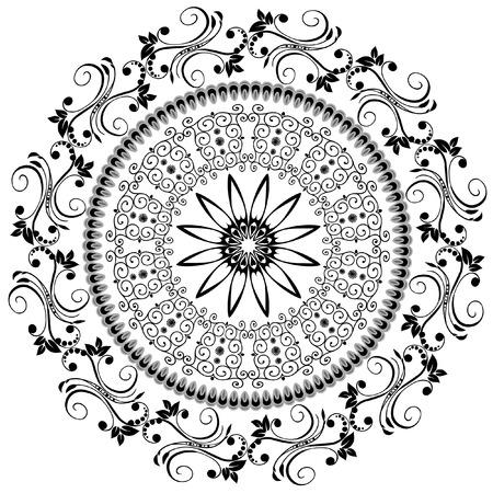 orientalische muster: abstrakte Muster orientalisch  Illustration