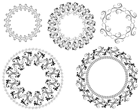 frame patterned Vector