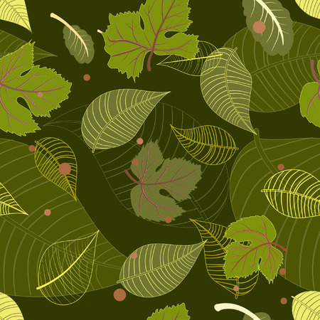 seamless background from the leaves Vector