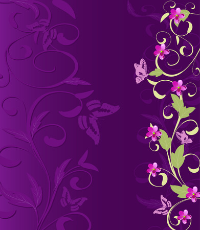 herbaceous border Vector