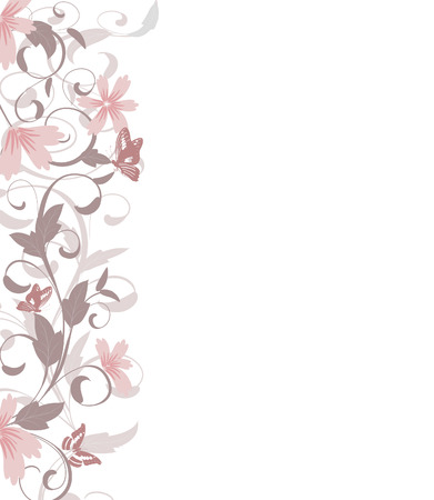 bordures fleurs: Fronti�re de feuilles