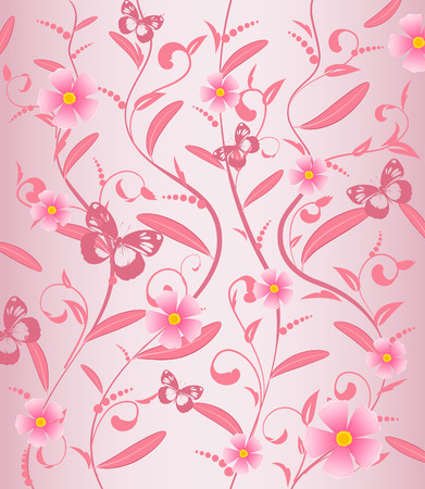 vines flower pattern Stock Vector - 6879352