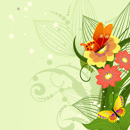 border of floral pattern Vector