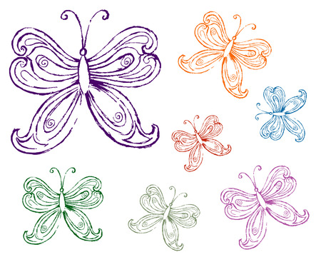 Pencil drawing of a butterfly Stock Vector - 6979309