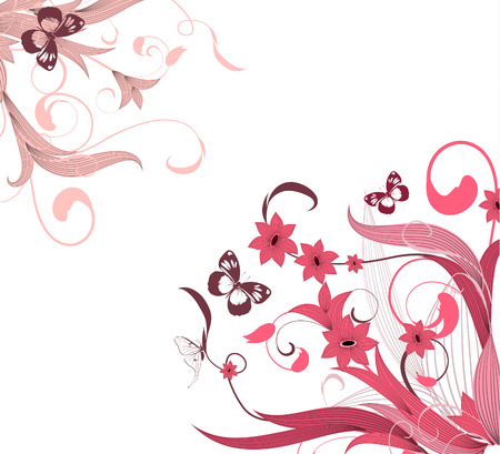 flower pattern corner Stock Vector - 6979482