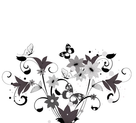 pattern flower bush Stock Vector - 6979480