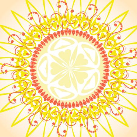 arabesque pattern solar frame Vector