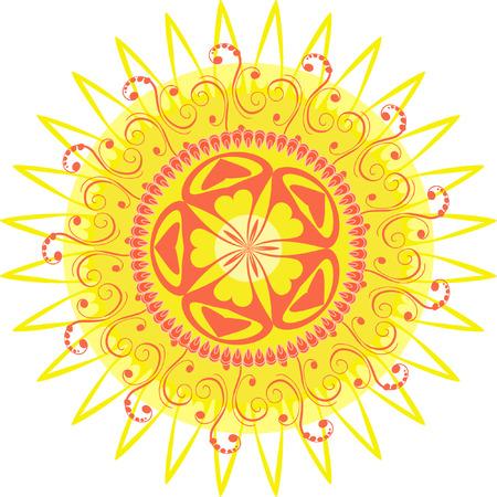 arabesque pattern sun Vector