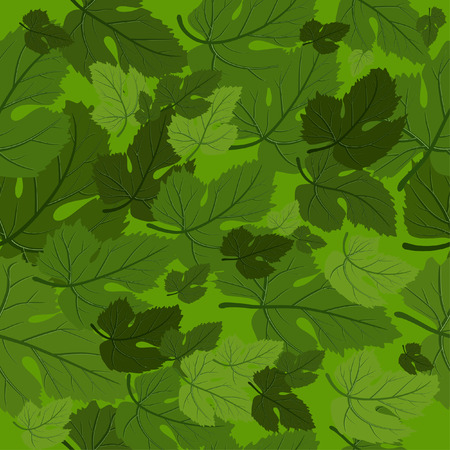 background seamless leaf Vector