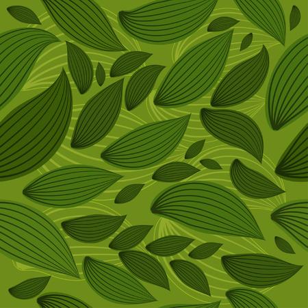 background seamless leaf Vector