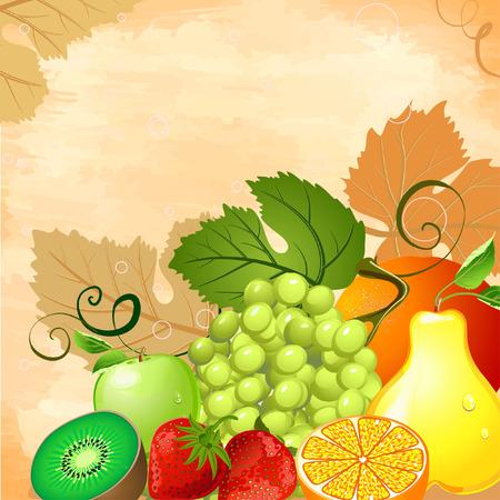 abstract art vegetables: Fruit Still Life