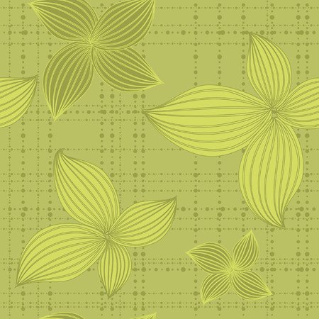 seamless background leaf green Vector