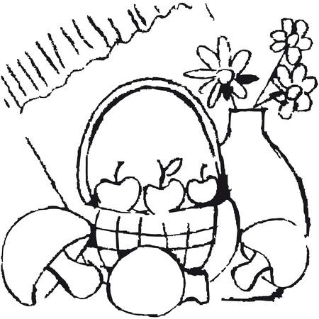 pencil sketch of vegetables Vector