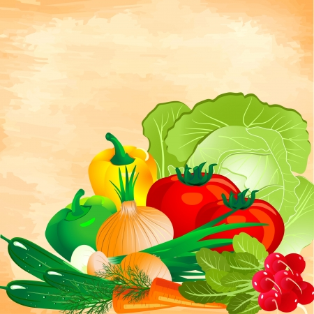 still life of vegetables Stock Vector - 7062529