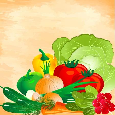 still life of vegetables Vector