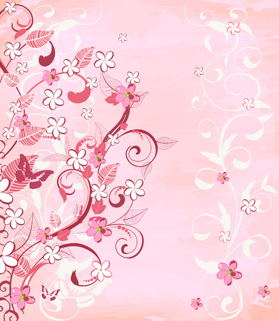 romantic pink background Stock Vector - 7111227