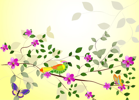 branch of a tree with flowers Stock Vector - 7111225