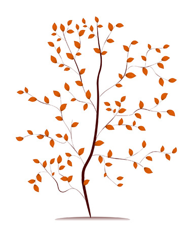 young tree in autumn Stock Vector - 7111224