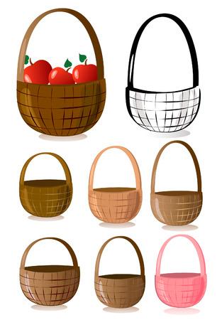 wicker basket: Baskets Illustration
