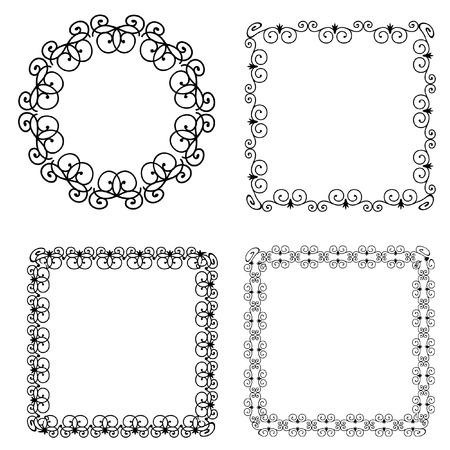 frame arabesque Vector