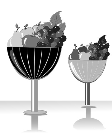 bowl of fruit Stock Vector - 7151213