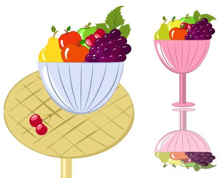 fruit bowl: bowl of fruit