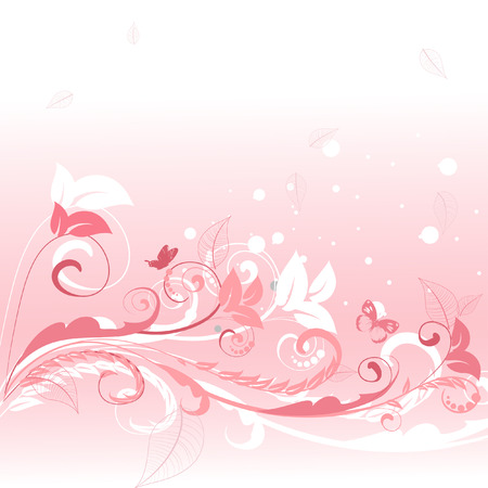 pink floral pattern Vector