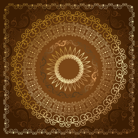 oriental abstract pattern of gold Vector