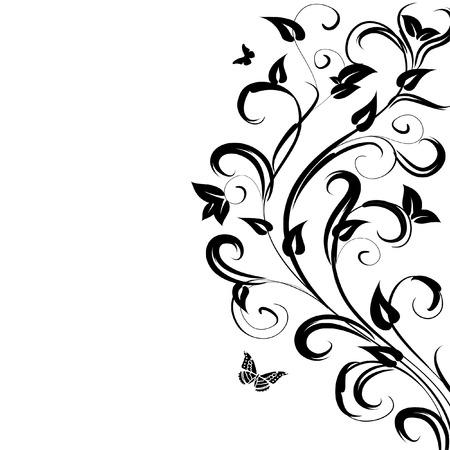 pattern floral branch Vector