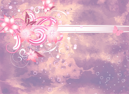 abstract lilac floral background Vector