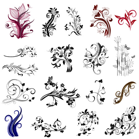 set of abstract patterns of plant Vector