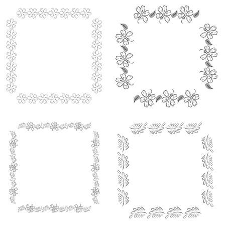 flowers black frame Stock Vector - 7313145