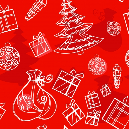 seamless background christmas set Vector