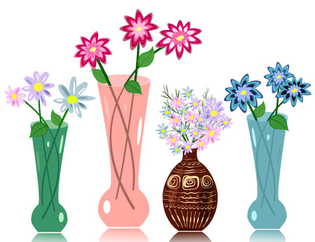 vase flowers Vector