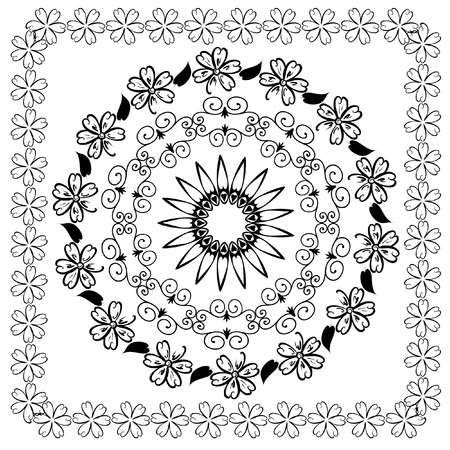 abstract floral arabesque pattern Stock Vector - 7485313