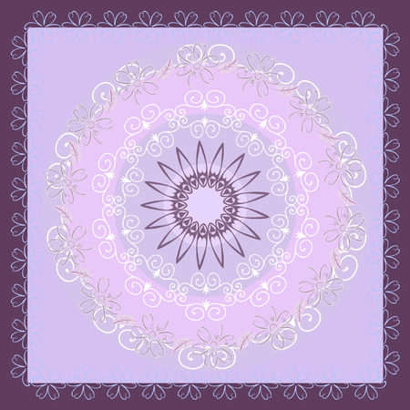 abstract floral arabesque pattern Vector