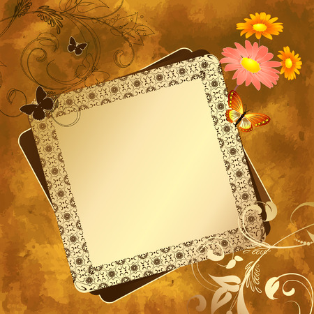 grunge floral pattern Stock Vector - 7485346