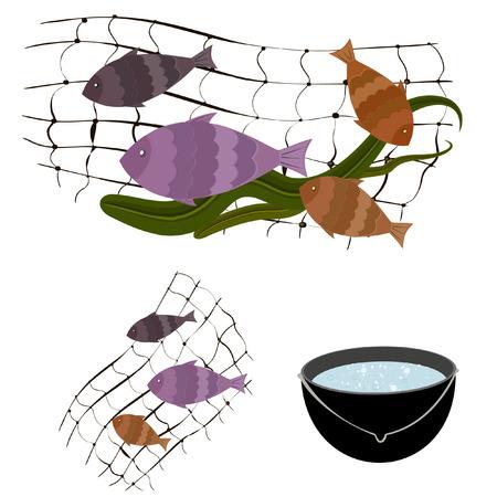fishes pattern: fishing