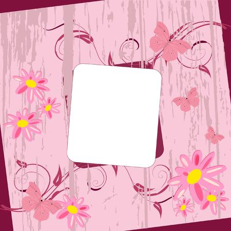 Flower Postcard Stock Vector - 7526908