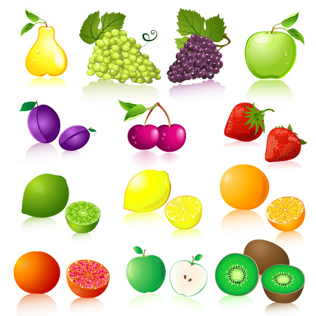 Fruit set Vetores