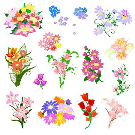 establecer un ramo de flores