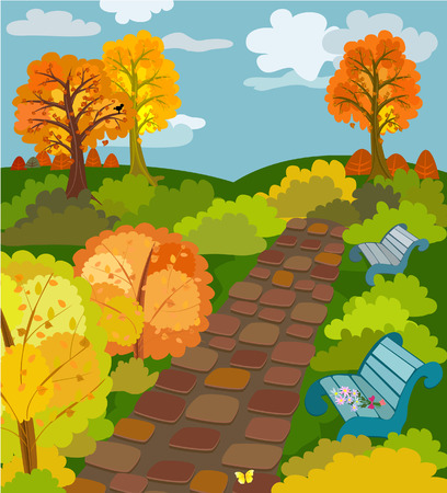 birds scenery: Autumn Park