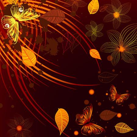Grunge autumn background Vector